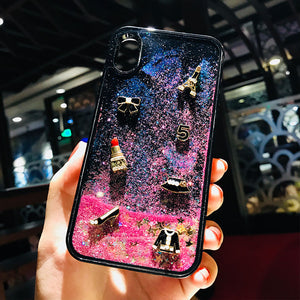 Girly Liquid Quicksand Animated Phone Case For iPhone -  | Ziloda