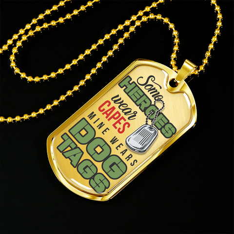 "Ziloda™️ Luxury ""My Heroes"" Dog tag [Father's Day Promo]"