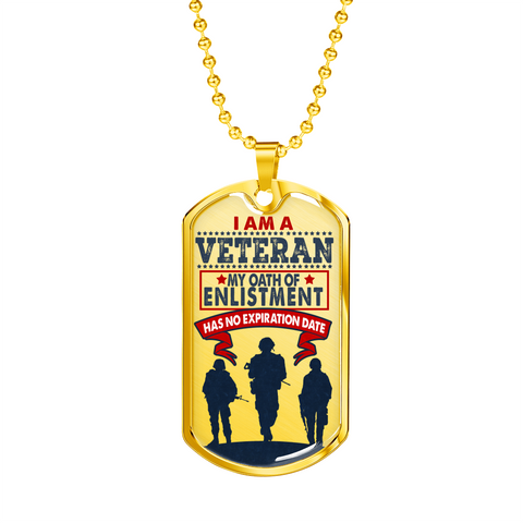 "Ziloda™️ Luxury ""I am a Veteran"" Dog tag [Father's Day Promo]"