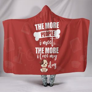 Custom Hoodie Blanket  - Dog Person -  | Ziloda