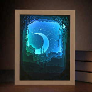 Wonderful Handmade Bestfriend Moon 3D LightBox Gift