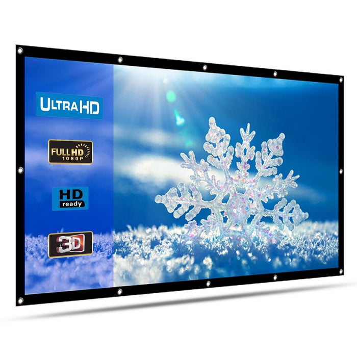 120'' Inch Projector Screen 16:9 HD 4K 3D Indoor Outdoor