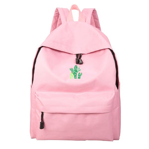 Cactus Embroidery Womens Casual Backpack - School Bags | Ziloda