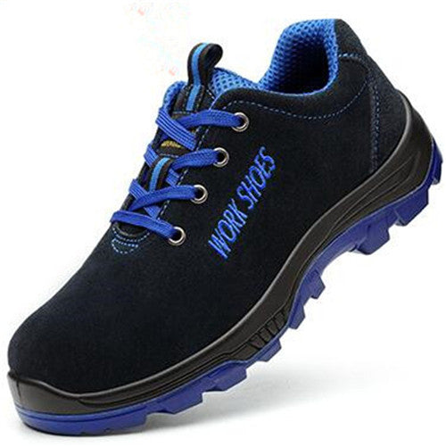 Men's Breathable Steel Toe Safety Shoes with Puncture Proof