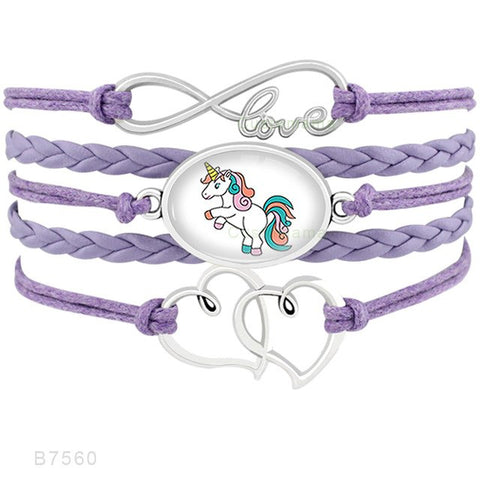 FLASH SALE Unicorn Animal Heart Infinity Love - Charm Bracelets | Ziloda