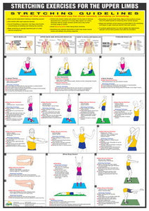 Stretching Upper Limbs Exercise Chart