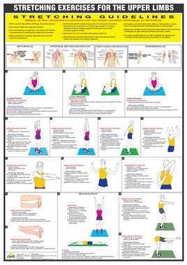 Stretching Exercise Chart - Upper Limbs