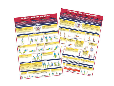 Antenatal & Postnatal Activity Charts - Set of 2