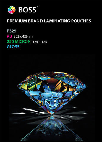 Laminating Pouches (250 Micron) - A3 Size (100 Pack)