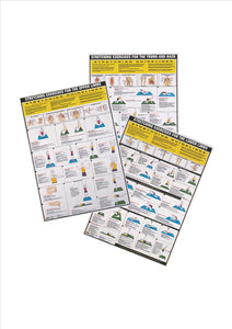 Stretching Exercise Charts - Set of 3
