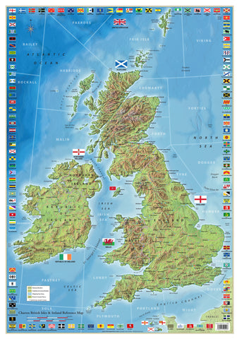 British Isles and Ireland County Map