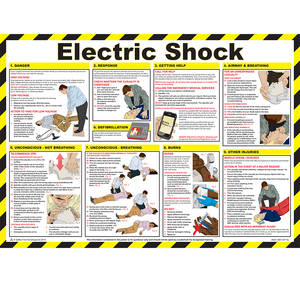 Electric Shock Treatment Safety Poster