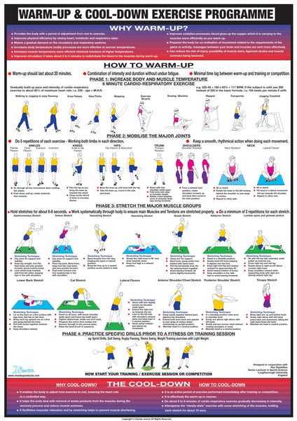 Warm Up And Cool Down Exercise Chart