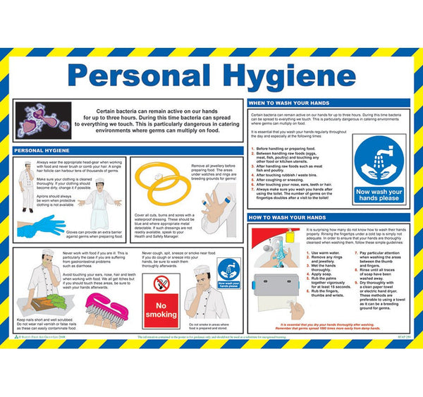 Personal Hygiene Safety Poster
