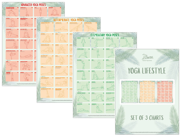 Yoga Exercise Charts - Set of 3