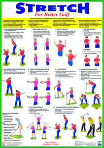 Golf Warm Up Stretching Chart - Chartex Ltd