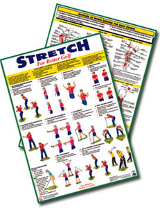 Golf Fitness Charts and Booklet - Set of 3
