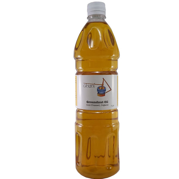 Groundnut oil cold pressed bottle