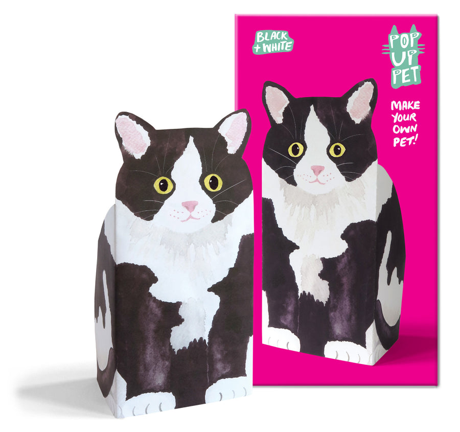 Pop Up Pet black and white cat