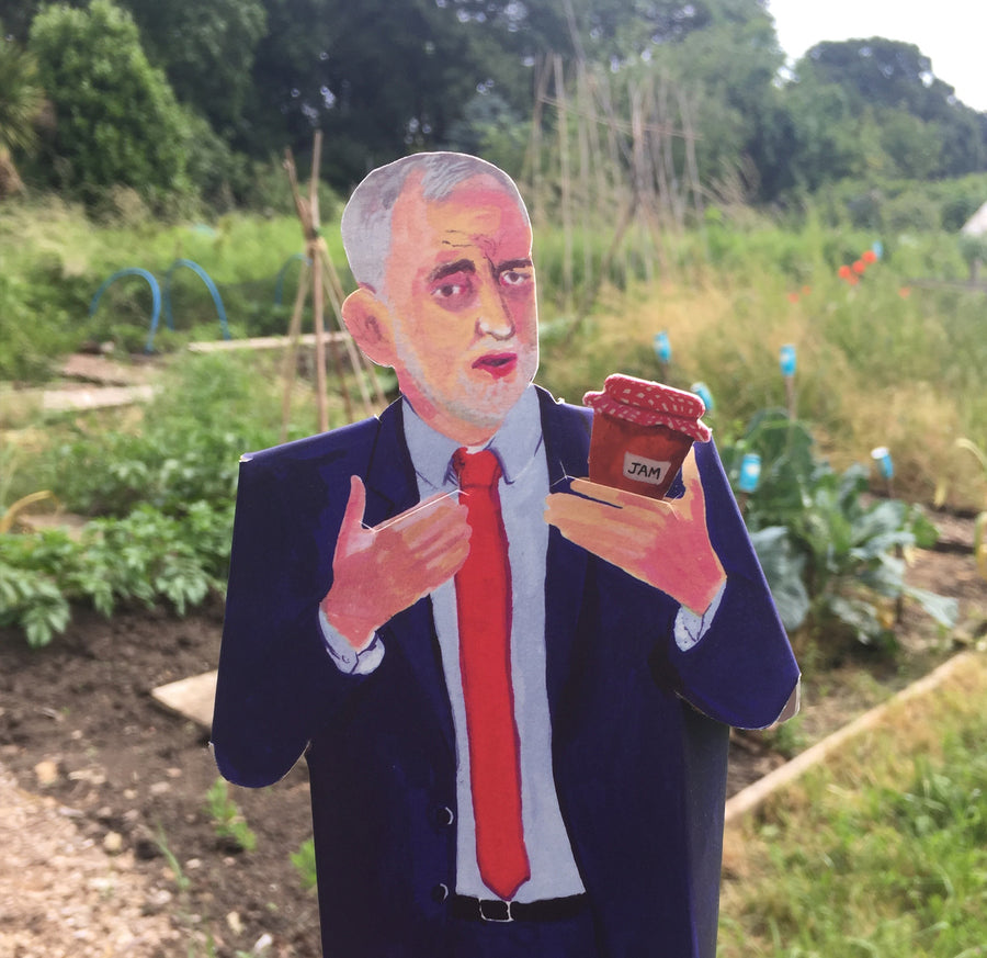 Pop Up Idol Jeremy Corbynin allotment