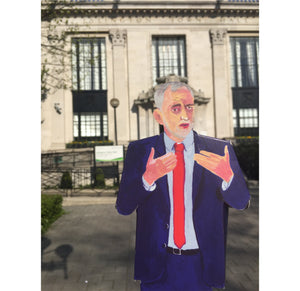 Pop Up Idol Jeremy Corbyn outside Islington Townhall