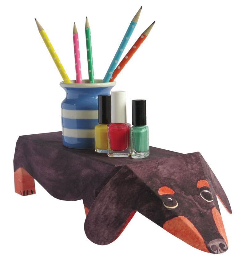 Pop Up Pet Dachshund with pens and makeup