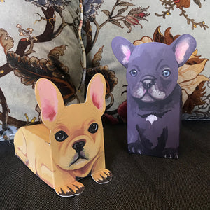 Pop Up Pet Frenchie Puppies on sofa