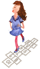 Rosie Flo's Games colouring hopscotch
