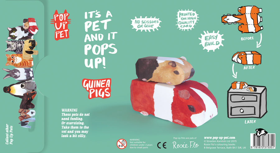 Pop Up Pet Guinea Pigs packaging