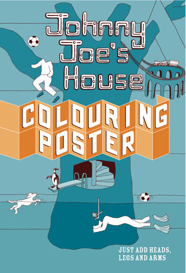 colouring poster, perfect house for boys