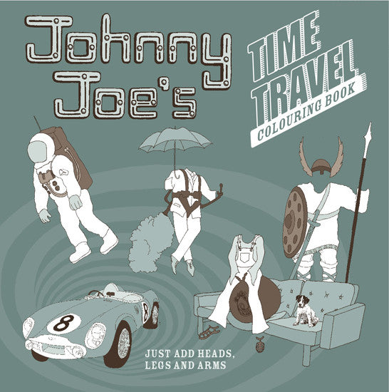 Johnny Joe's Time Travel colouring book for boys