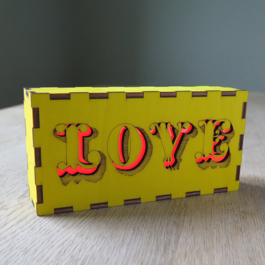 Off the shelf Words Glow Box
