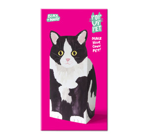 Pop Up Pet black and white cat packaging