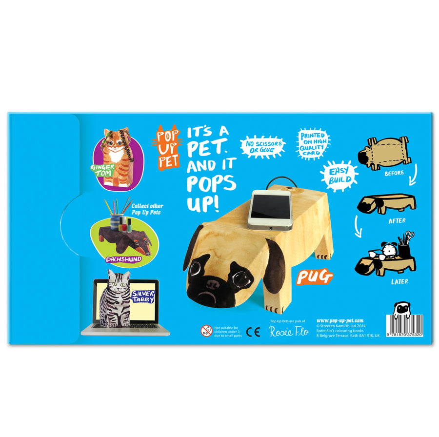Pop Up Pet Pug reverse