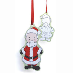 Rosie Flo's colouring Father Christmas decoration