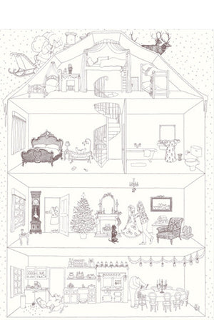 Rosie Flo's colouring Christmas House poster
