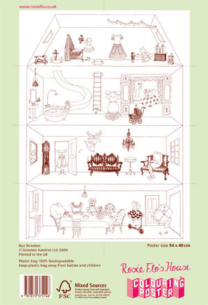 Rosie Flo's colouring house poster reverse
