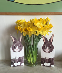 Rabbits with daffodils