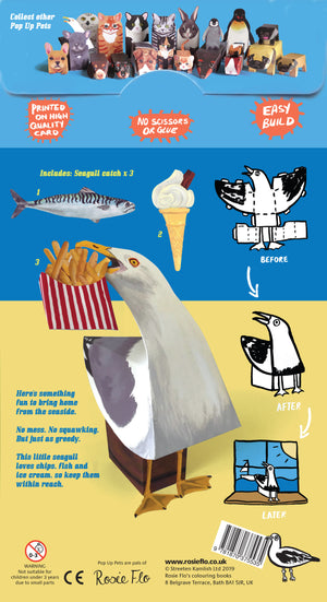 Make your own Pop Up Seagull packaging