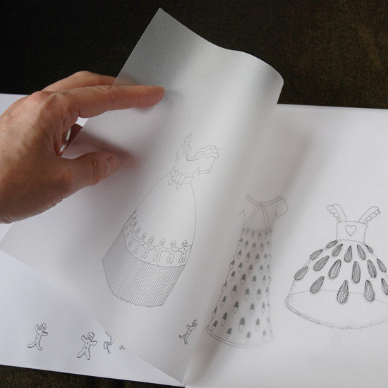 Rosie Flo's Kitchen colouring book with tracing paper