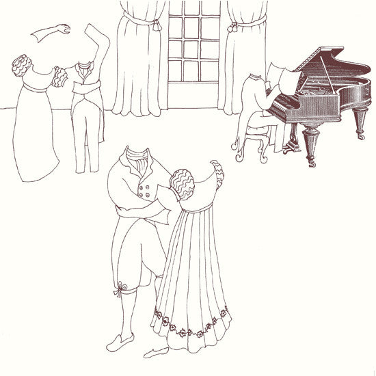 Rosie Flo's Music colouring book Jane Austen dance