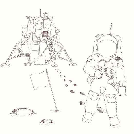 Moonscape, Johnny Joe's Time Travel colouring book