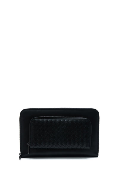 Intrecciato VN Large Zip Around Wallet