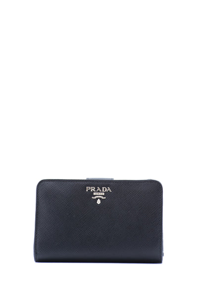 Saffiano Metal French Flap Wallet