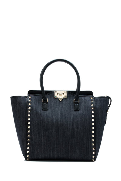 Rockstud Double Handle Bag