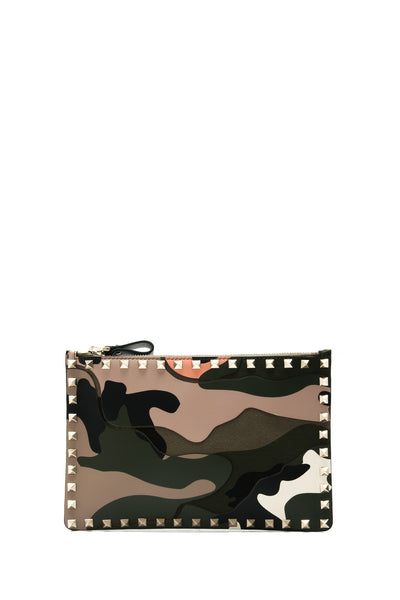 Rockstud Camouflage Clutch