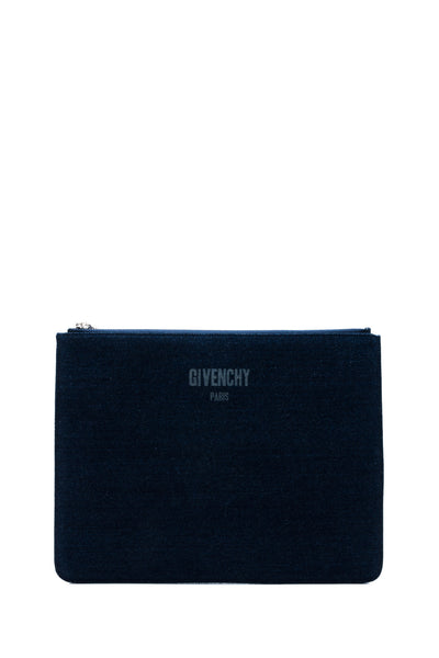 Denim Zipped Pouch