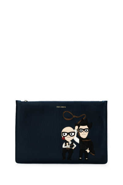 Patch DG Family Leather Clutch