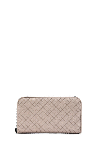 Intrecciato Nappa Long Zip Around Wallet