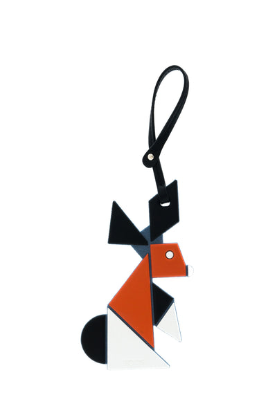 Tangram Rabbit Charm Hang Tag